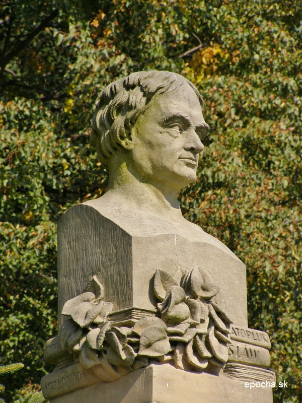 Busta Jána Hollého od slovenského sochára Ladislava Dunajského (epocha.sk)